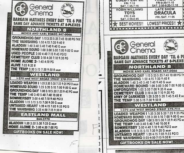 """Closing of the General Cinema Eastland Mall"""