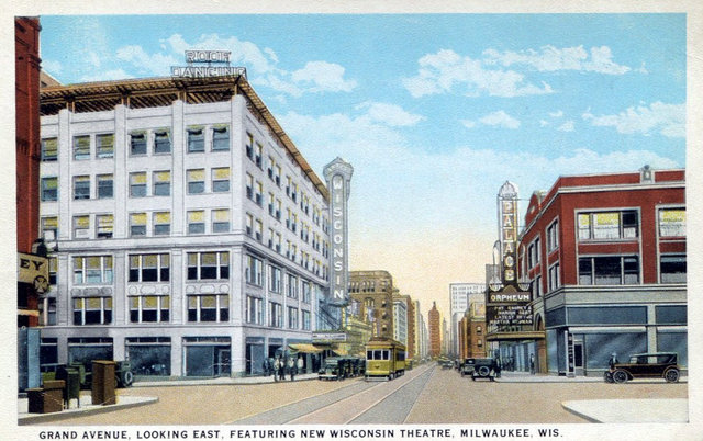 WISCONSIN and PALACE Theatres, Milwaukee, Wisconsin.