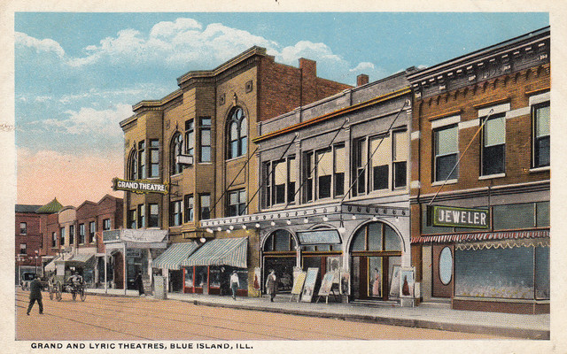 LYRIC and GRAND Theatres; Blue Island, Illinois.