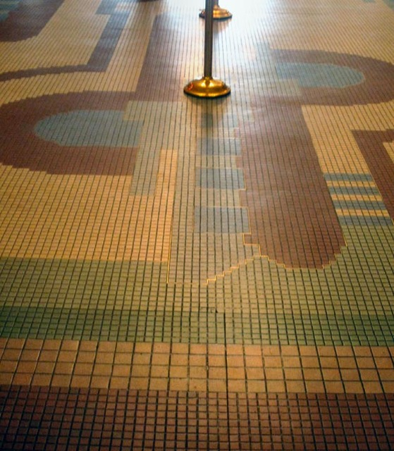 State Theatre (Cleveland) - Terrazzo floor - outer lobby