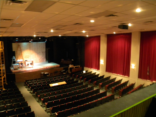 Seating and stage as seen from the balcony, taken 11/20/2012
