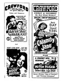 Crawford Theatre Movie Ads