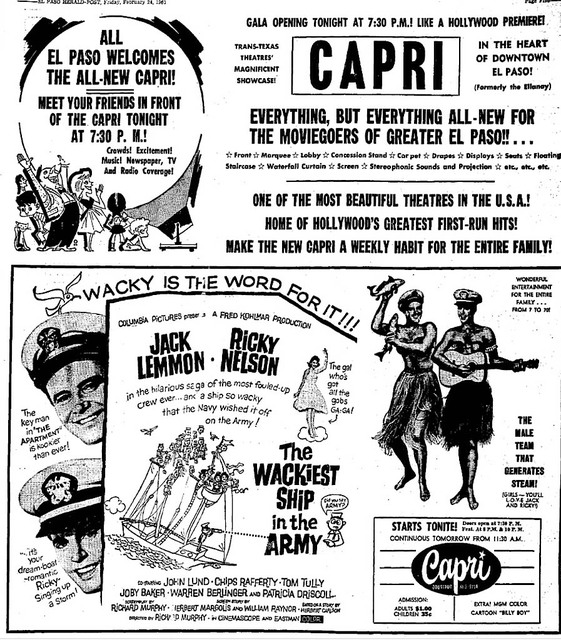 Capri Grand Opening Ad