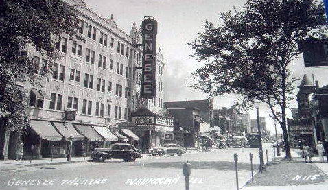 GENESEE and ACADEMY Theatres; Waukegan, Illinois.