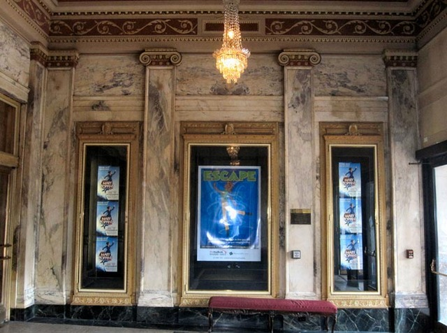 Palace Theatre - Poster Cases in entry vestibule