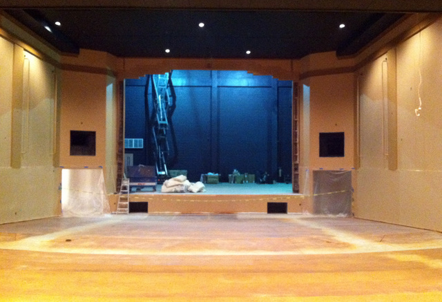 view of stage/proscenium - Nov 2012