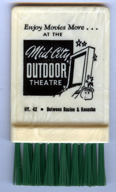 MID-CITY OUTDOOR THEATRE promotional item; Kenosha, Wisconsin.