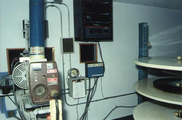 Large auditorium booth equipment