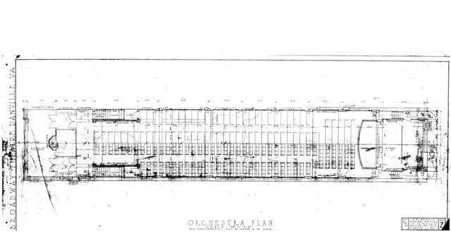 Orchestra Seating floorplan / 1920 blueprints