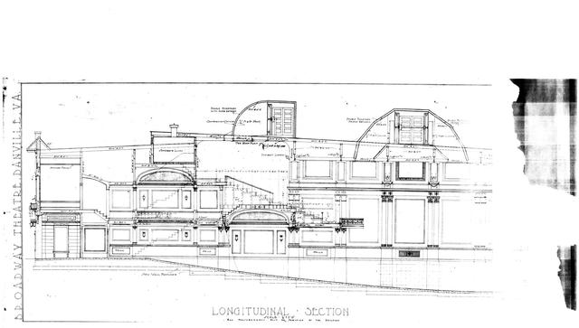 Broadway theater in danville va cinema treasures broadway longitudinal view blueprints malvernweather Images