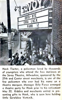 SAVOY Theatre; Milwaukee, Wisconsin, April 1958.