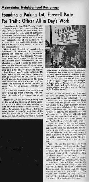 SAVOY Theatre; Milwaukee, Wisconsin, April 1958.