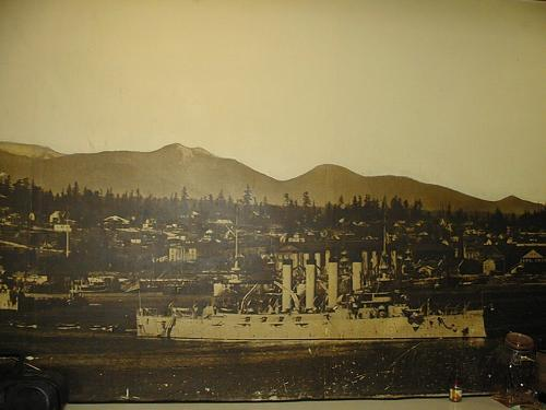 Asahel Curtis Giant Photo Mural of Bremerton, The Navy Yard with the White