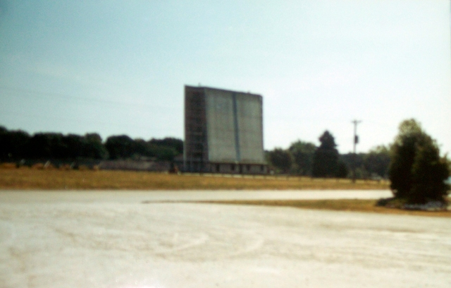 Screen at the Skylark Drive-In