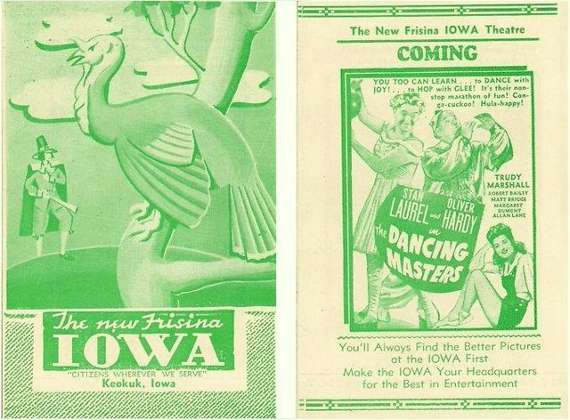 Iowa Theater Brochure From The 1940's