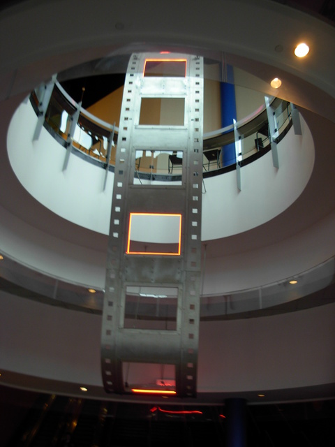 12-20-12 film reel depiction, in lobby