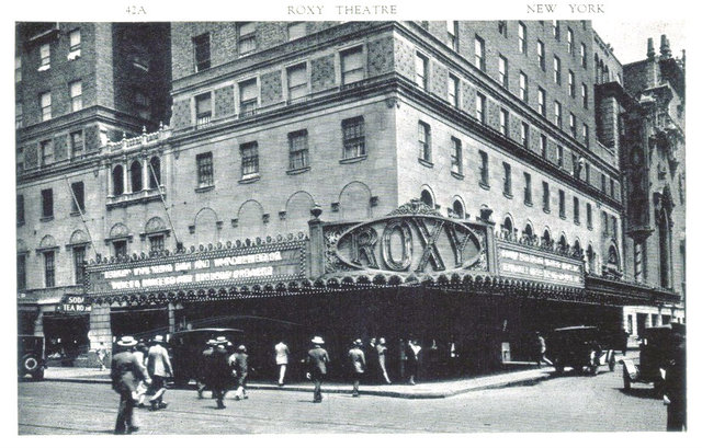 ROXY Theatre; New York, New York.