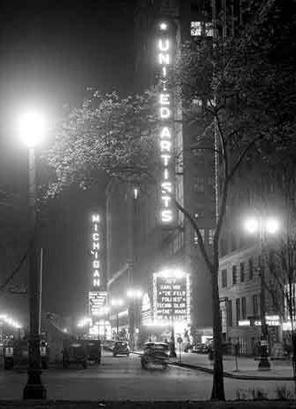 UNITED ARTISTS Theatre; Detroit, Michigan.