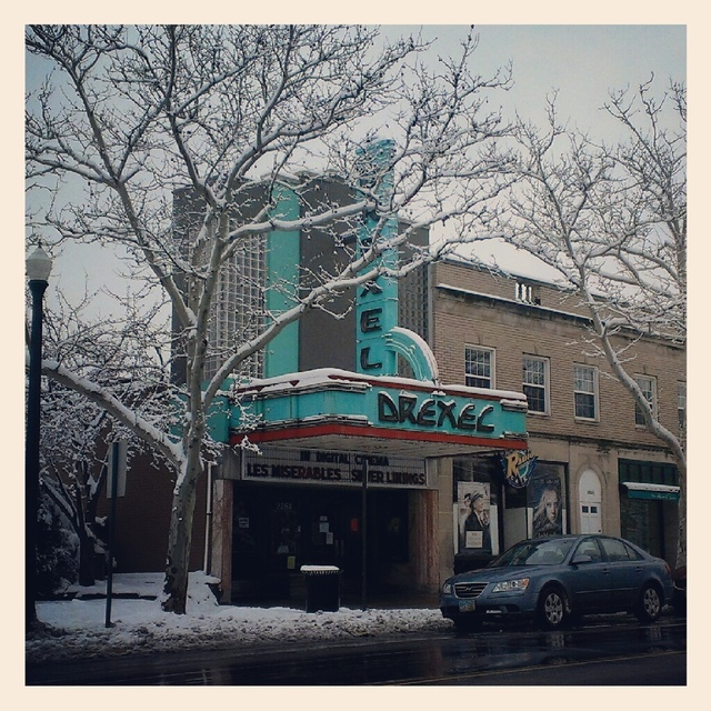 Drexel Theatre in the snow