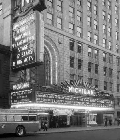 MICHIGAN Theatre; Detroit, Michigan.