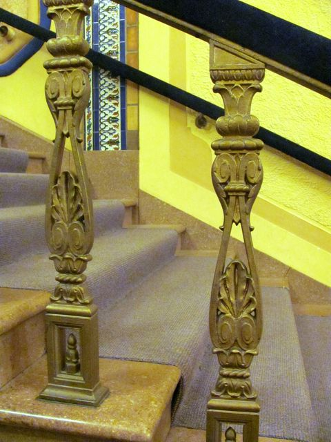 Detail of handrailing, GATEWAY Theatre; Kenosha, Wisconsin.