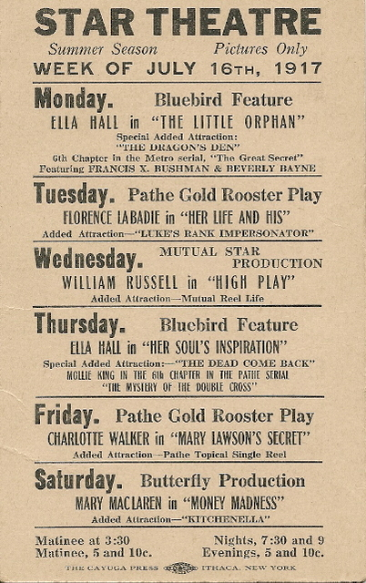 Star Theatre Program