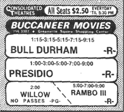 Buccaneer Movies 3, Greenville, North Carolina