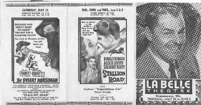 STRAND Theatre flyer; Oconomowoc, Wisconsin.