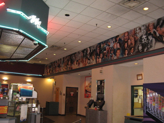 Mural in lobby of Bartlett Cinema