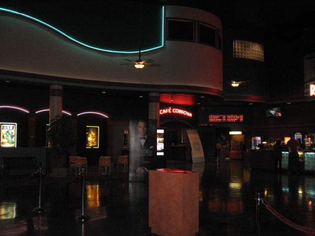 Cordova Towne Cinema lobby with cafe