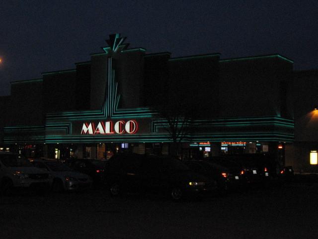 Stage Cinema display lit