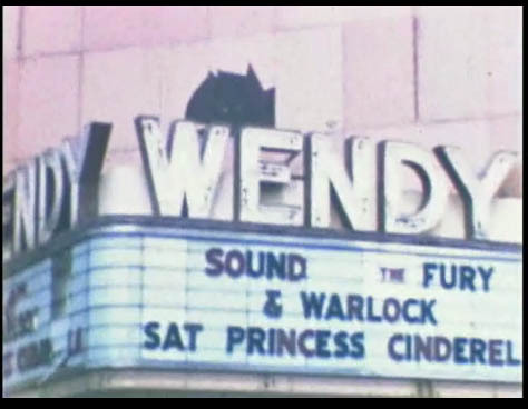 Wendy Theater Marquee After Fire