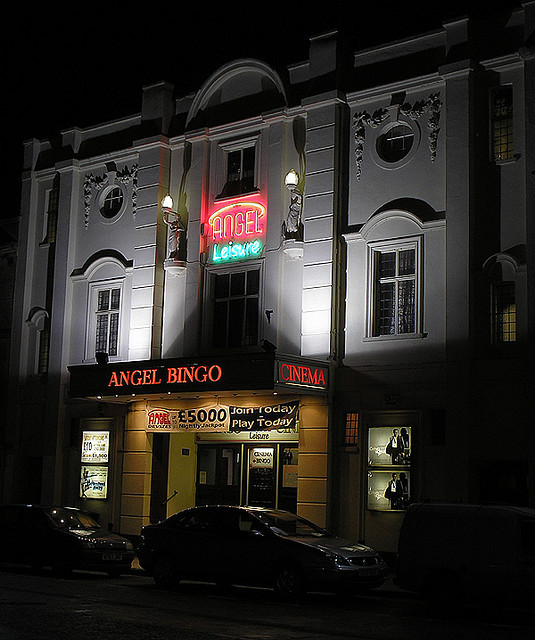 Palace Cinema & Bingo Hall at night