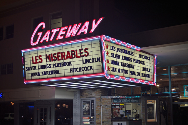 Gateway Theatre Marquee Night