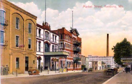 RHODE OPERA HOUSE; Kenosha, Wisconsin (demolished 1924).