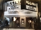 The Illini Theatre in the 60's and my father (Richard) at the door.