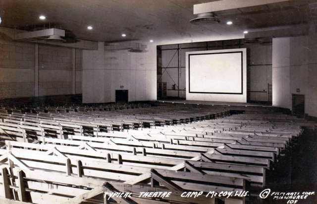 CAMP McCOY Theatre; Camp McCoy, Wisconsin.
