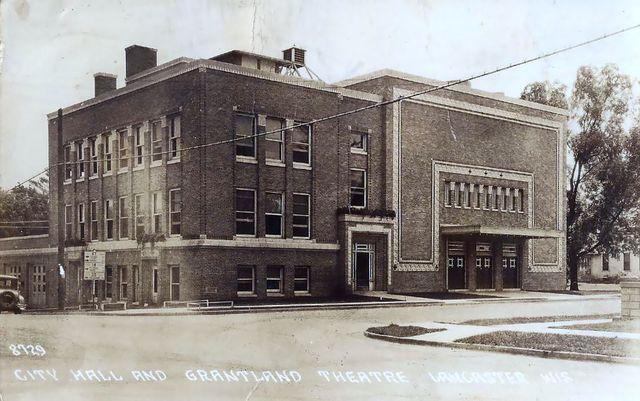 GRANTLAND Theatre; Lancaster, Wisconsin.
