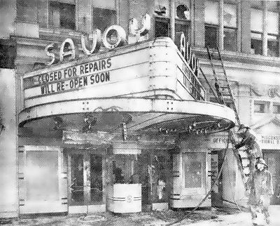 SAVOY Theatre; Watertown, Wisconsin, 1950, after fire.