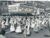 Parade in front of the State &amp; Lake Theater 1958