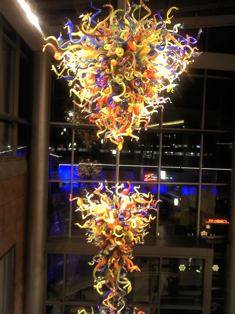 Dale Chiluly glass sculpture in Lincoln Square 