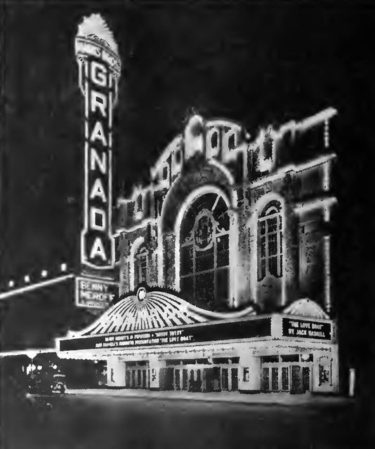 GRANADA Theatre; Chicago, Illinois, 1929.