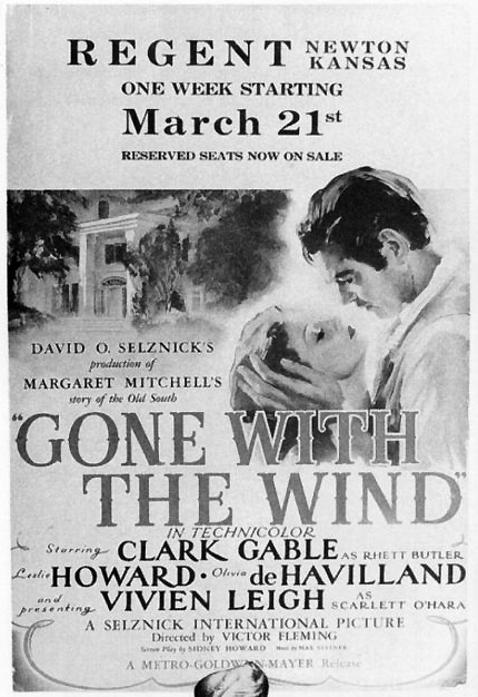 &quot;Gone With the Wind&quot; at the Regent (Fox) Theatre, Newton, KS