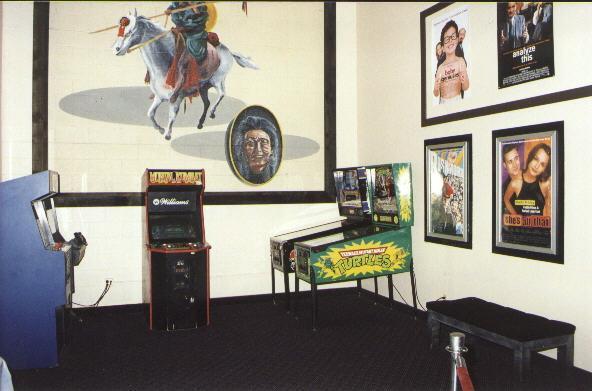 Arcade games in lobby
