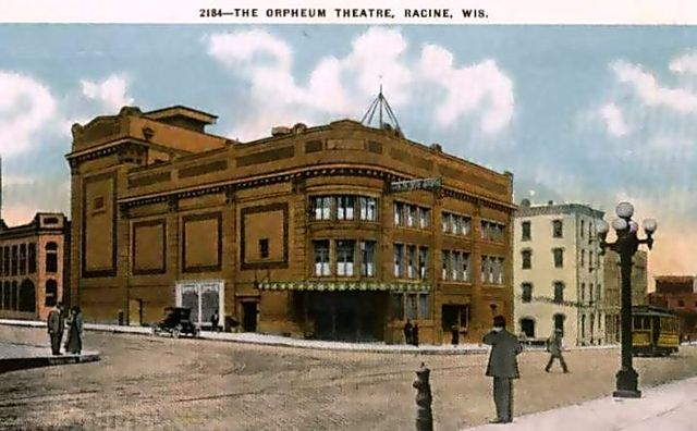 ORPHEUM (NATIONAL, RKO MAINSTREET) Theatre; Racine, Wisconsin, 1912.
