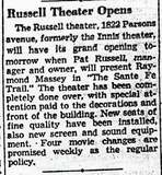 Russell Theater Opens
