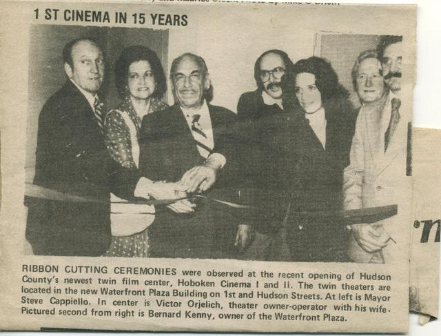 Opening of Hoboken Twin Theater