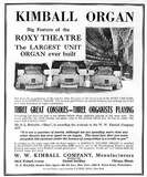 Ad for Kimball Organs