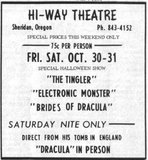 Hi-Way Theater newspaper clipping