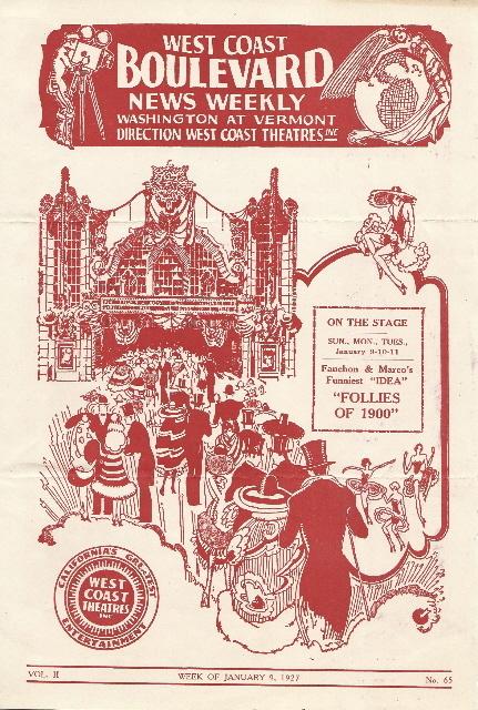 Boulevard Theatre program